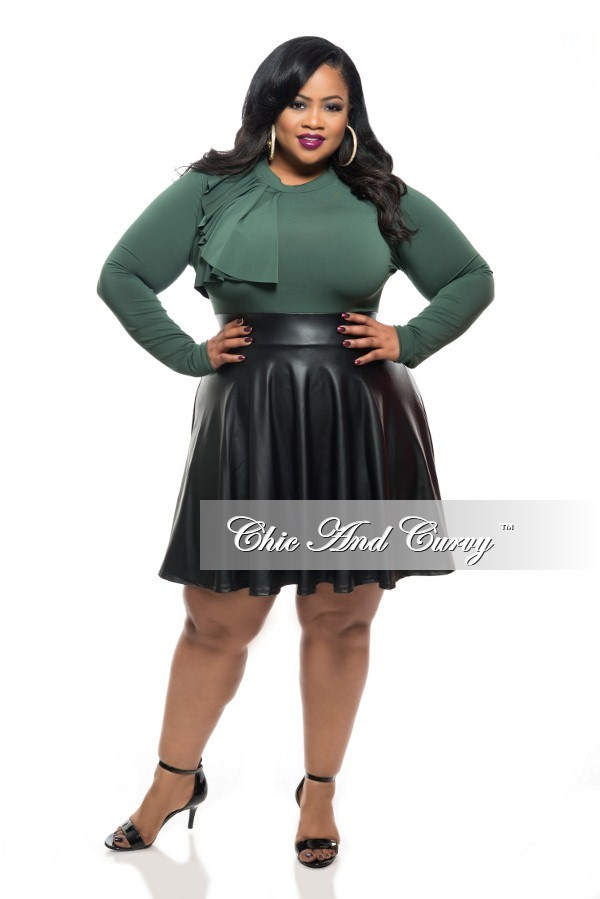 50 Off Sale Final Sale Plus Size Skater Dress With Side Ruffle