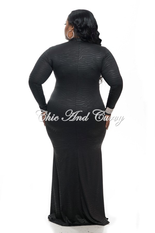 New Plus Size Long Sleeve BodyCon Dress w/ Neck Tie and Mermaid ...